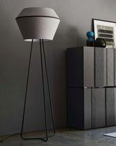 Lampe sur pied / contemporaine / en tissu / en métal