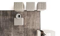 Pouf contemporain / en tissu / en simili cuir / lit