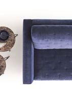 Canapé lit / contemporain / en tissu / en cuir