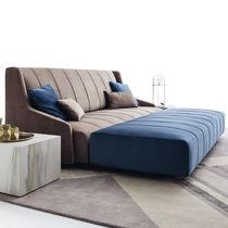 Canapé contemporain / en tissu / en cuir / pour établissement public