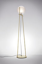 Lampe sur pied / contemporaine / en métal / en verre