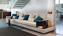 Canapé contemporain / en cuir / en métal / en simili cuir