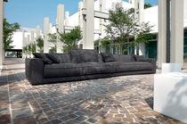 Canapé d'angle / modulable / contemporain / en simili cuir