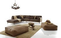 Canapé d'angle / contemporain / en cuir / en simili cuir