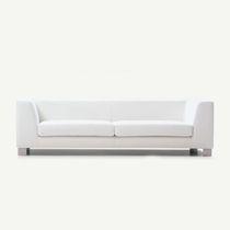Canapé contemporain / en tissu / 3 places / blanc