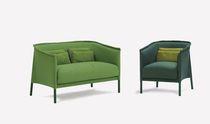Canapé contemporain / en tissu / pour hôtel / 2 places