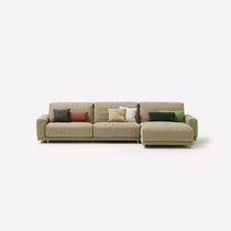 Canapé contemporain / en tissu / 2 places / inclinable