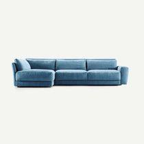 Canapé contemporain / en tissu / 3 places / bleu