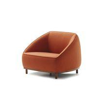 Fauteuil contemporain / en tissu / en cuir / contract