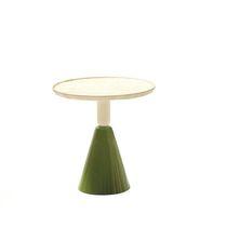 Table basse contemporaine / en bois / en érable / ronde