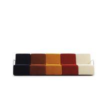 Canapé modulable / contemporain / en tissu / 7 places et plus