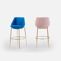 Chaise de bar contemporaine / tapissée / en tissu / professionnelle