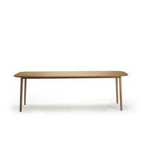 Table à manger contemporaine / en chêne / rectangulaire
