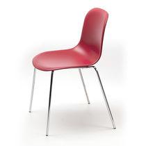 Chaise visiteur design scandinave / avec accoudoirs / tapissée / empilable