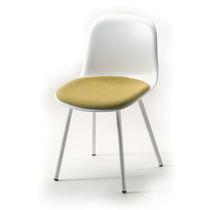 Chaise de restaurant design scandinave / de bistrot / en acier peint / en polypropylène