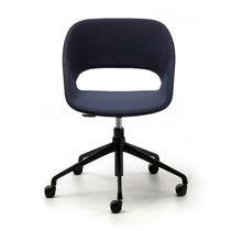 Chaise de bureau contemporaine / tapissée / à roulettes / piètement étoile