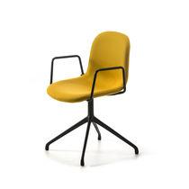 Chaise de bureau contemporaine / avec accoudoirs / pivotante / en tissu