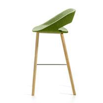 Chaise de bar contemporaine / tapissée / luge / en tissu