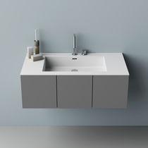 Vasque à poser / rectangulaire / en Corian® / contemporaine