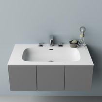 Vasque à encastrer / rectangulaire / en Corian® / contemporaine