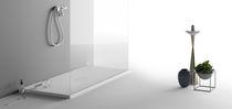 Receveur de douche rectangulaire / en Corian® / sur mesure / à fleur de sol