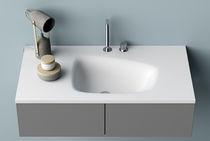 Vasque à encastrer / rectangulaire / en Solid Surface / contemporaine
