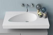Vasque suspendue / rectangulaire / en Corian® / contemporaine