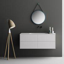 Meuble vasque suspendu / en Corian® / contemporain / avec tiroirs