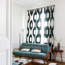 Tissu pour rideaux / à motif / en lin / en acrylique