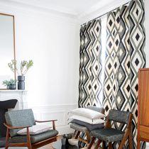 Tissu pour rideaux / motif géométrique / en lin / en polyester