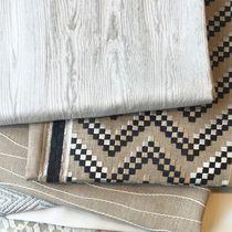 Tissu pour rideaux / à motif / en lin / en polyester
