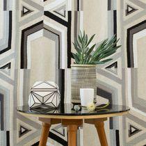 Tissu pour rideaux / motif géométrique / en coton / en lin