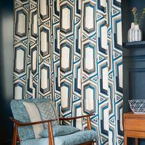 Tissu pour rideaux / à motif / en coton / en lin