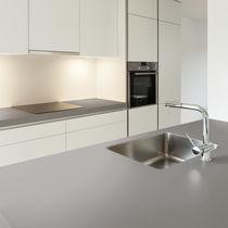 Plan de travail en composite / de cuisine / beige / gris