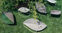 Table d'appoint contemporaine / en acier inoxydable / contract / de jardin