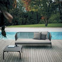 Table basse contemporaine / en acier inoxydable / en HPL / en pierre