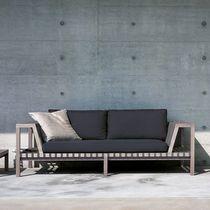 Canapé contemporain / en tissu / en teck / par Rodolfo Dordoni
