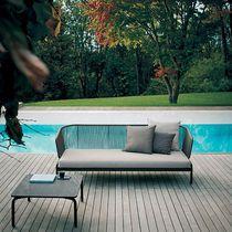 Canapé contemporain / de jardin / en tissu / en métal