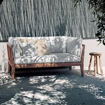 Canapé contemporain / de jardin / en tissu / en teck