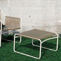 Repose-pied contemporain / en acier inoxydable / en polyester / de jardin