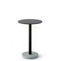 Table d'appoint contemporaine / en acier inoxydable / en HPL / en pierre