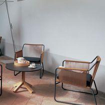 Table basse contemporaine / en teck / en HPL / en pierre