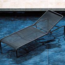 Bain de soleil contemporain / en acier inoxydable / en polyester / de jardin