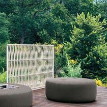 Paravent contemporain / en acier inoxydable / en polyester / de jardin