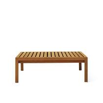 Table basse contemporaine / en teck / rectangulaire / d'extérieur