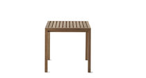 Table contemporaine / en teck / rectangulaire / carrée