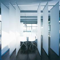 Cloison pivotante-coulissante / en aluminium / de bureau / acoustique