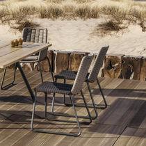Chaise de jardin contemporaine / luge / en aluminium / en corde
