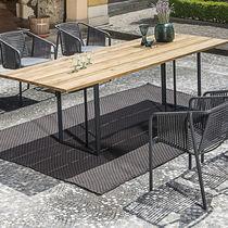 Table à manger contemporaine / en stratifié / en acier inoxydable / rectangulaire