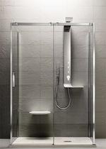 Paroi de douche coulissante / rectangulaire / en verre